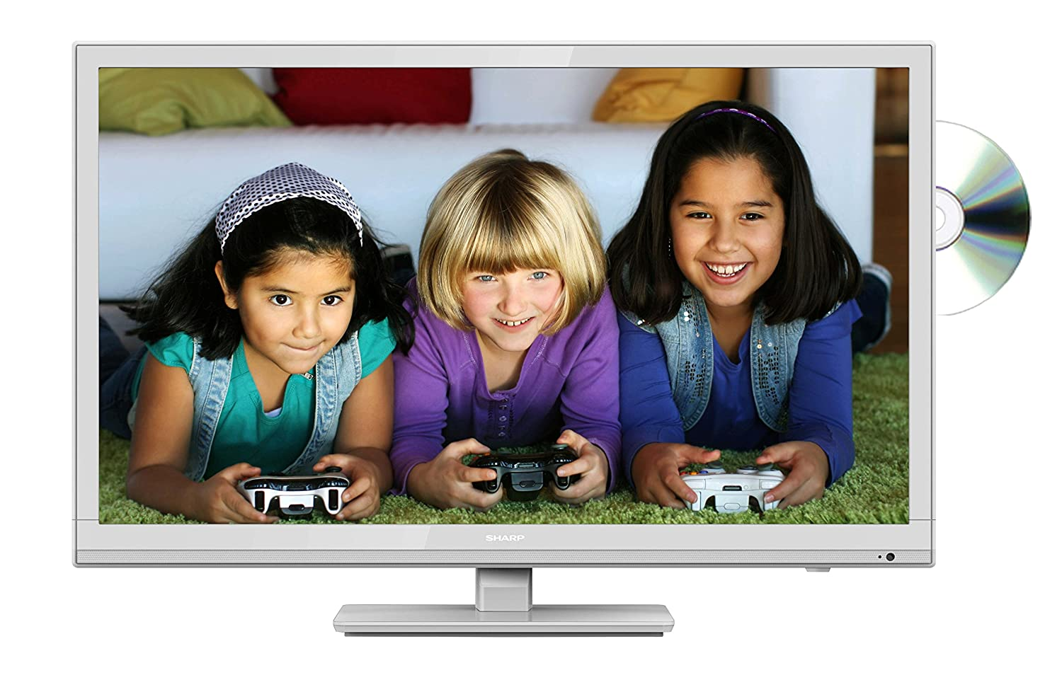 sharp 24 inch lc 24dhf4011k hd ready dvd combi led tv with freeview hd. sharp lc-24dhe4011kw 24-inch hd ready tv with freeview and dvd - white: amazon.co.uk: 24 inch lc 24dhf4011k hd dvd combi led tv