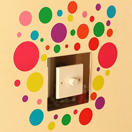 41 Polka Dot Indoor or Outdoor Wall Art Stickers Spot Bubbles on a ...