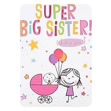 Tarjeta Hallmark de felicitación de nacimiento de bebé, modelo Best Big Brother, tamaño mediana