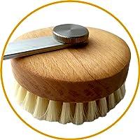 Badebürste Singly, Premium Rückenbürste als Erweiterung für Eincremehilfe Singly, gewachstes Buchenholz, Naturborsten