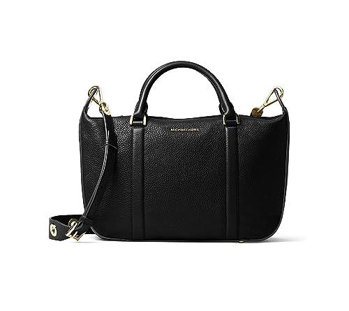 bc0fa53dde83 Michael Kors Raven Large Black Leather Satchel Bag Black Leather ...