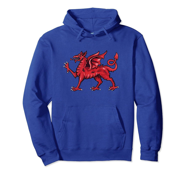 Welsh Red Dragon Flag of Wales Hoodie Welsh Pride-fa