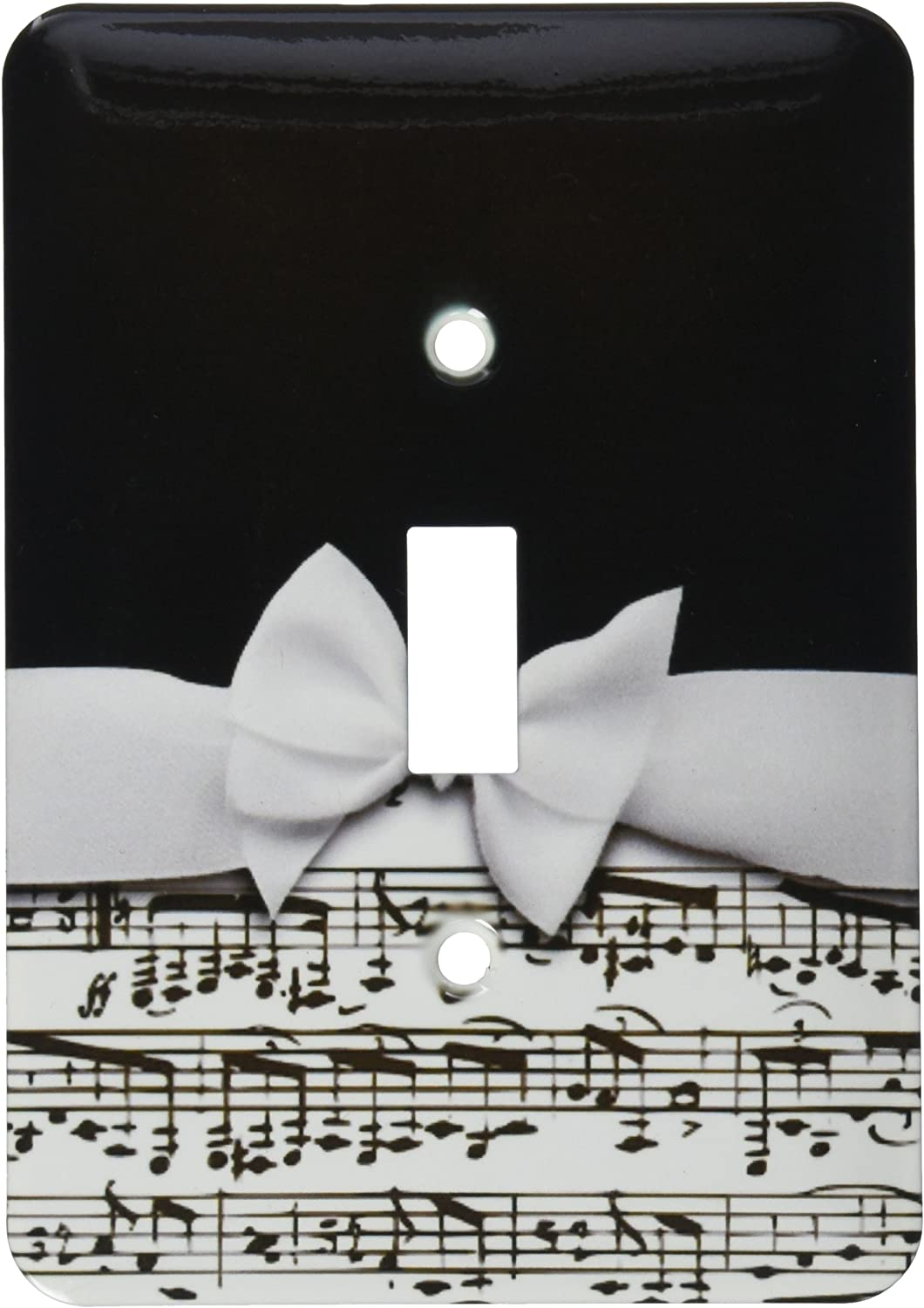 3drose Lsp 123130 1 Stylish Musical Notes Faux Ribbon And Bow Black And White Sheet Music Girly Classy Elegant Design Light Switch Cover Amazon Com