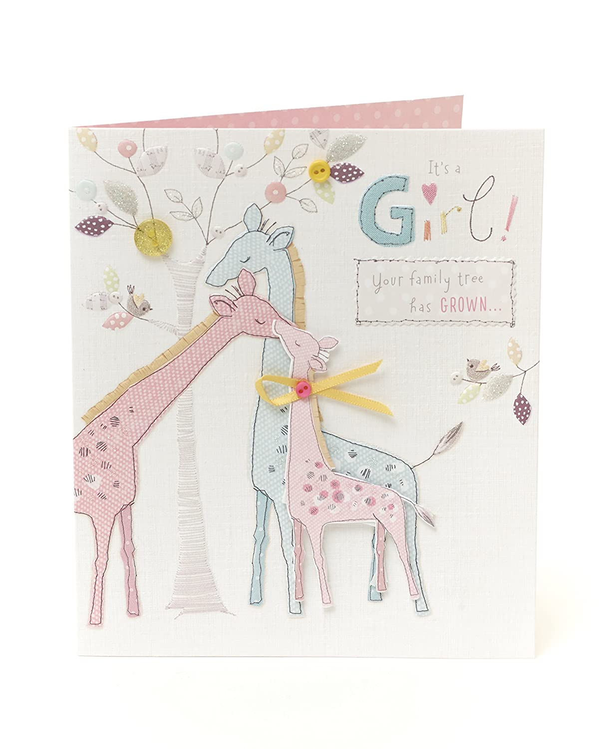 Congratulations new baby girl card its a girl uk greetings 501626 0 1 m4hsunfo
