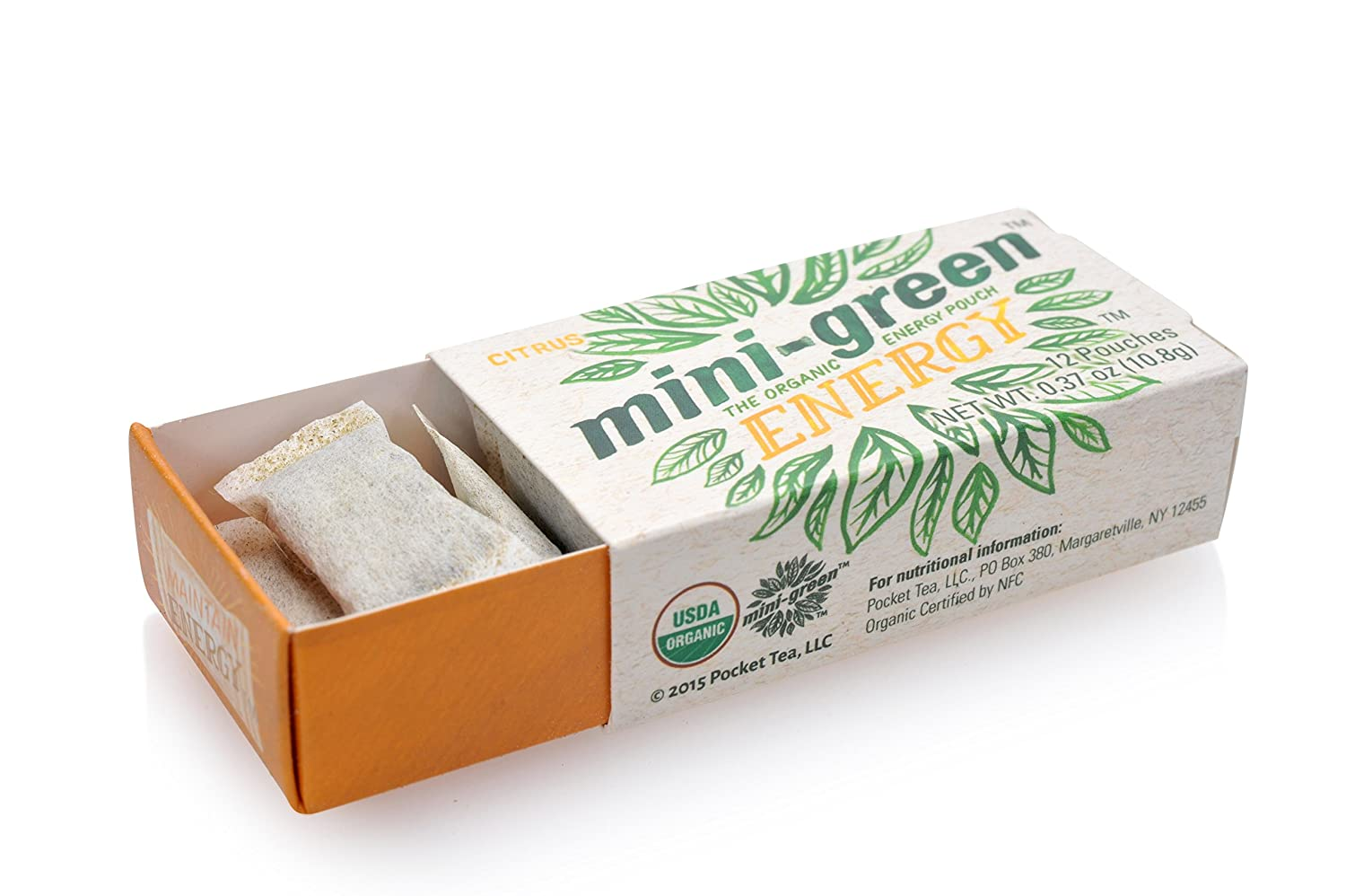 MINI-GREEN ENERGY POUCH (3-Pack/Spearmint) - The Organic Energy Product That You Can Use Anytime, Anywhere Without The Jitters And Crashing Of Artificial Energy Products (choose from 5 GREAT FLAVORS)