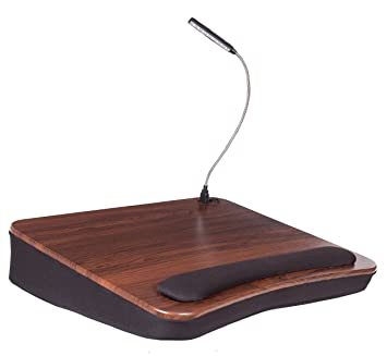 Sofia And Sam Memory Foam Cushion Lap Desk With Light | Laptop Desk |  Travel Desk