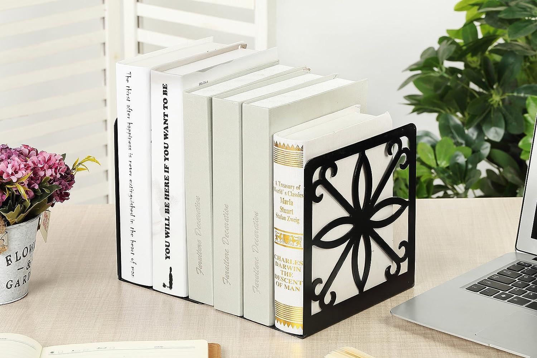 Color Negro NEUN WELTEN Classics Sujetalibros para estanter/ías tama/ño Grande y Ancho, 19,2 x 14 x 20 cm