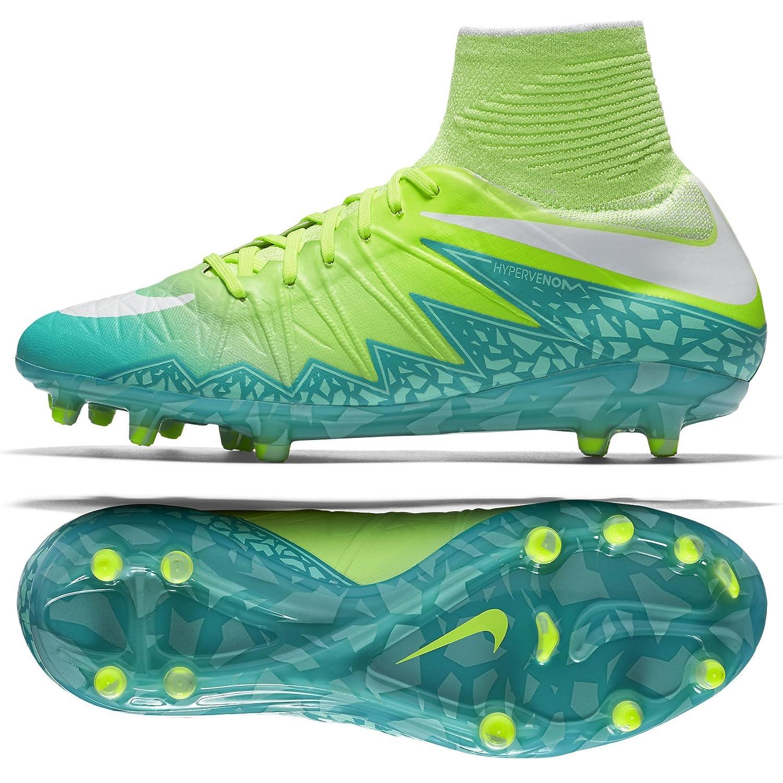 Nike Womens Hypervenom Phantom II FG Suelo Firme Zapatillas de fútbol: Amazon.es: Zapatos y complementos