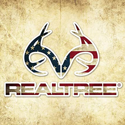 1e46d7eda6d0e Amazon.com: Realtree Camo Graphics RT49FLAG Realtree Antler Logo - Die Cut  Decal 4in x 6in American Flag Camo Graphics Wrap: Automotive