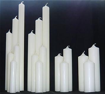 Kerzenrohling Für Taufe Geburtstag Hochzeit Kommunion Ral Kerze Aus Ceresin Zum Basteln Und Verzieren 250 X 70 Mm Elfenbein