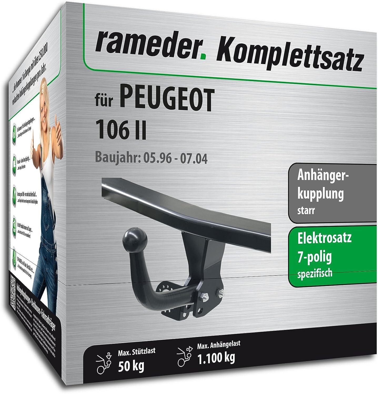 rameder Juego completo, remolque fijo + 7POL Elektrik para Peugeot 106 II (134319 - 01559 - 1): Amazon.es: Coche y moto