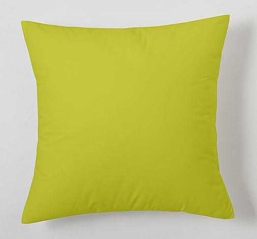 ESTELA - Funda de cojín Combi Lisos Color Pistacho - Medidas 40x40 cm. - 50% Algodón-50% Poliéster - 144 Hilos: Amazon.es: Hogar