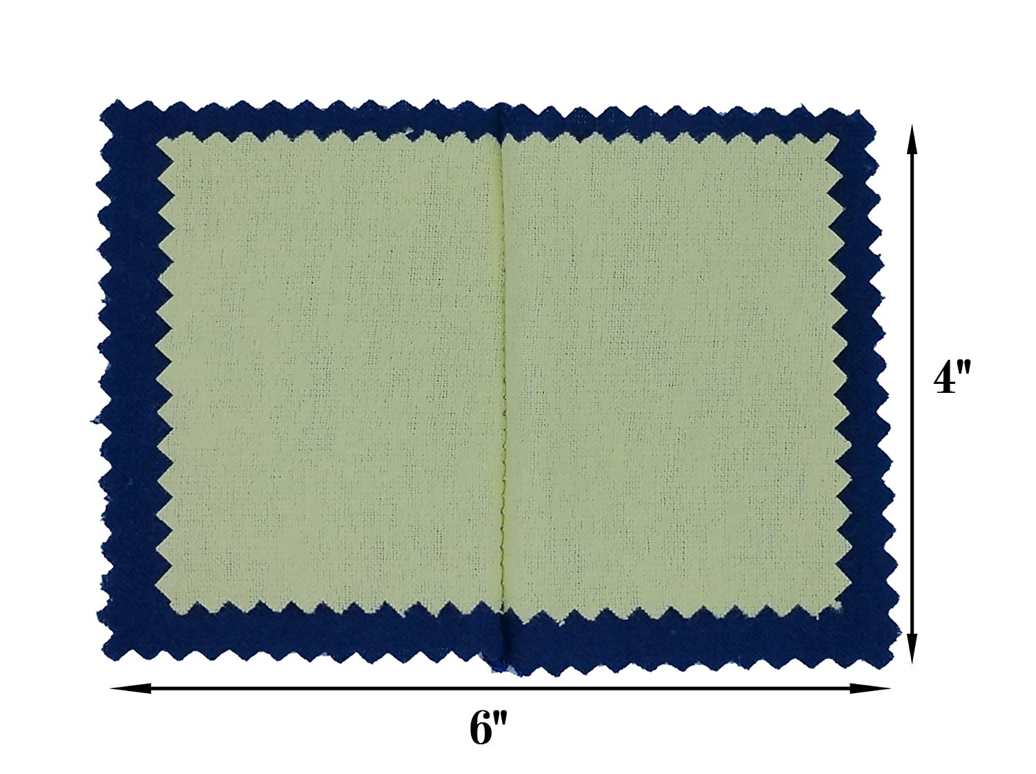 2-Pack New Polishing Cloth for Silver, Gold, Brass /& Most other Metal, Various Sizes available by 888 Display® 888 Display USA