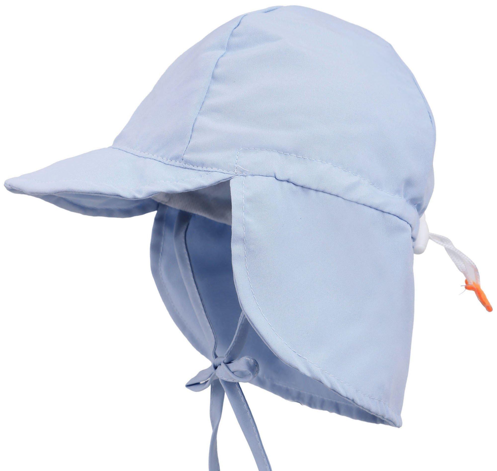 Livingston Kid's SPF 50+ UV Sun Ray Protective Safari Hat w/ Neck Cover, Blue