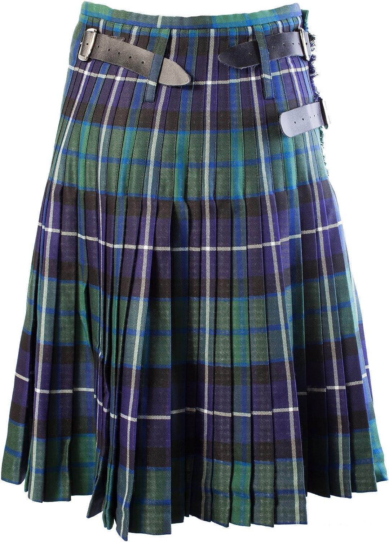 Heritage Of Scotland Men's 8 Yard Deluxe Scottish Tartan Kilt Freedom