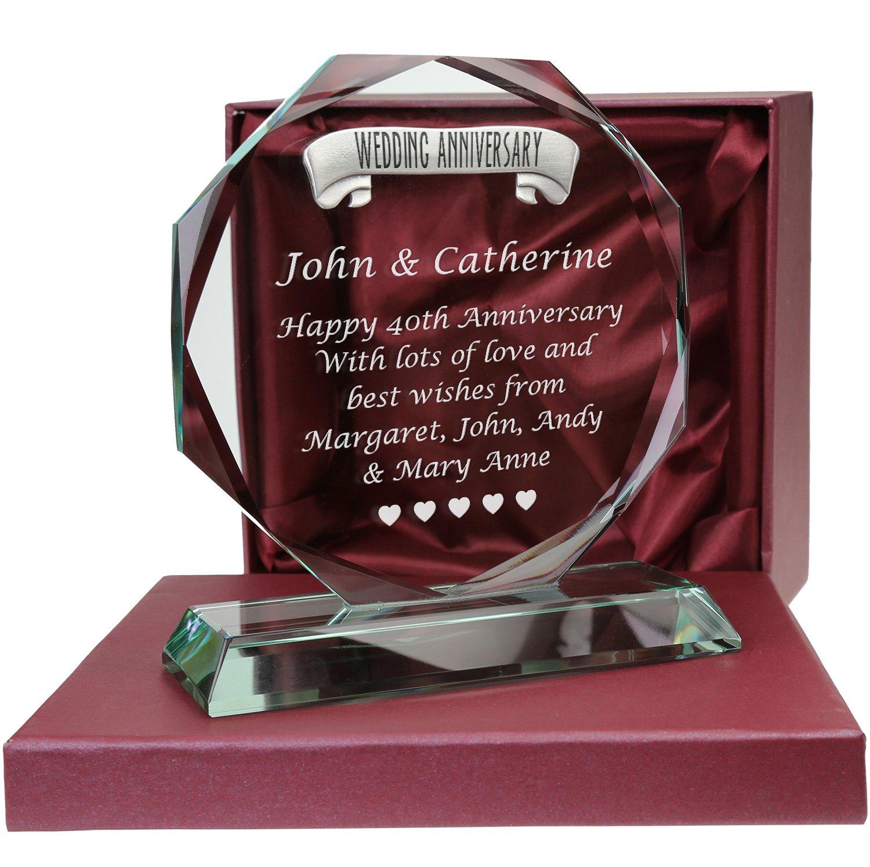 Personalised Ruby Wedding Anniversary Gift Personalised 40th Anniversary Gift
