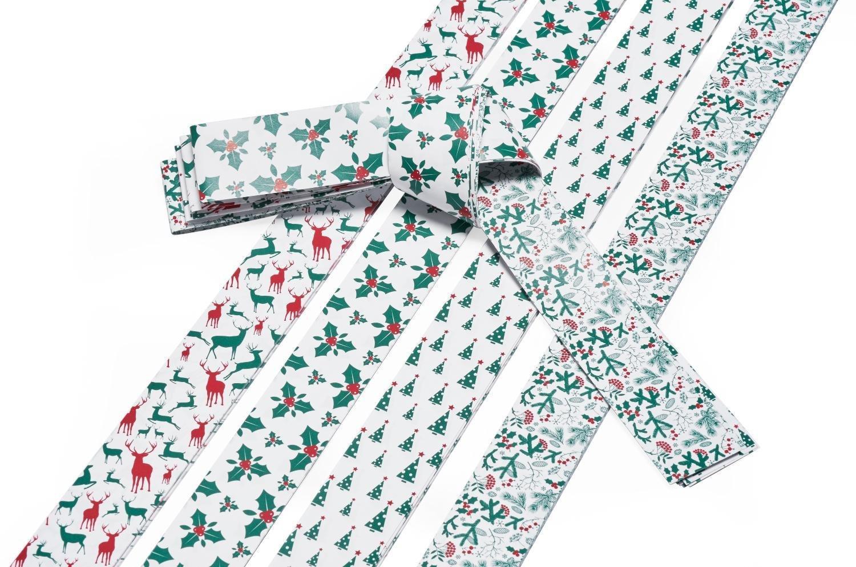 Flechtstreifen Fröbelsterne - Papierstreifen 36 Streifen 25 mm breit 332506 weiß/rot/grün Bertels