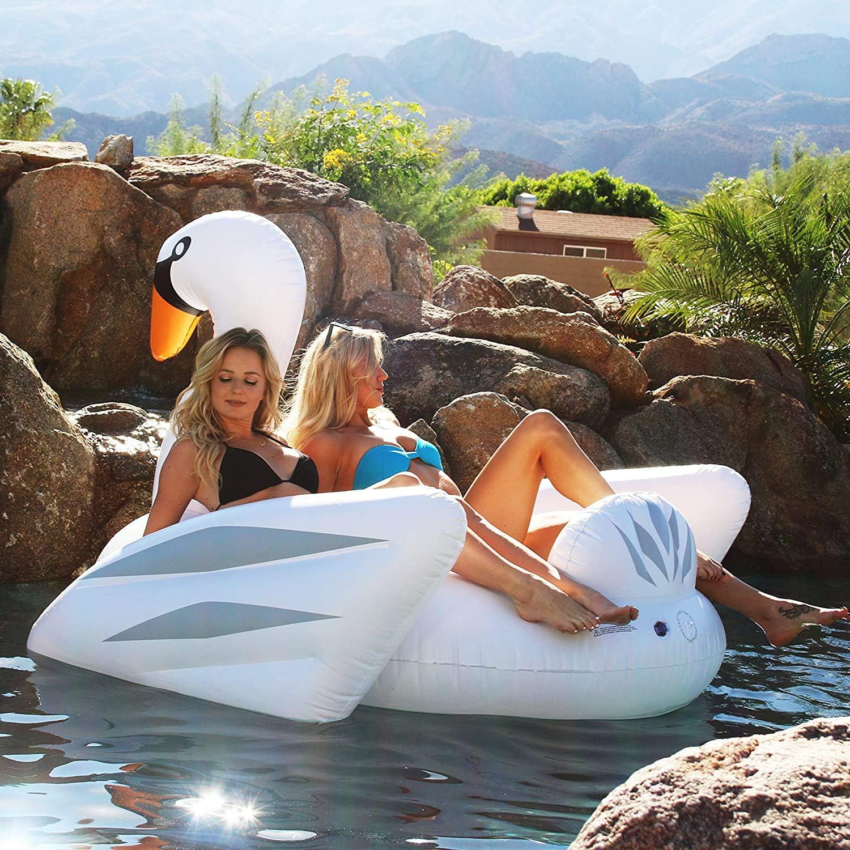Poolspiel Sommer Pool und Beach Party Von OriginalCup/® entwickelt Glitter XXL Schwimmreifen Gold Pailletten XXL Schwimmreifen Luftmatratze