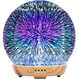 COOSA Essential Oil Diffuser - 250ml 3D Glass Aromatherapy Diffuser Cool Mist Humidifier With 4 timer and Waterless Auto…