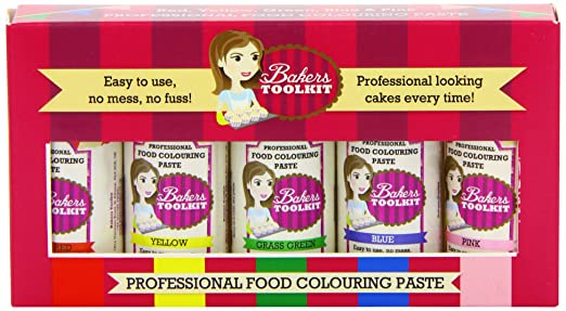 Bakers Toolkit Professional Food Colouring Gel Pastes Squeezy ...