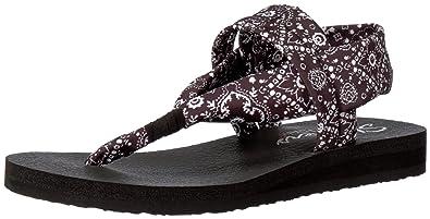 Skechers Meditation Sandcastle Flip Flop Sandal Black I62p3976
