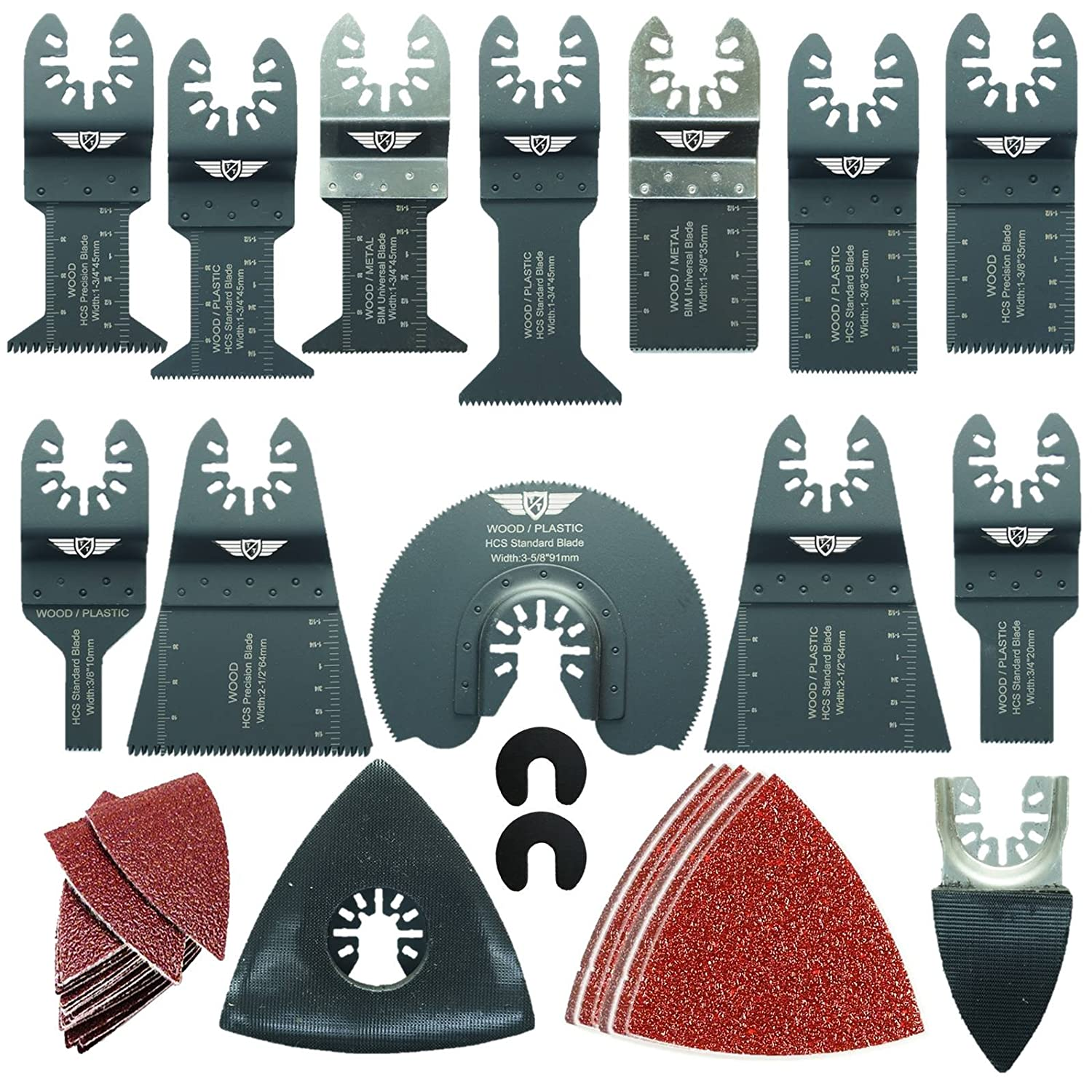 56 x TopsTools DRFAK56SK Fast Fit Mix Blade Kit for Dremel Multimax Multi-Max MM20 MM30 MM40 and MM45 Multitool Multi Tool Accessories