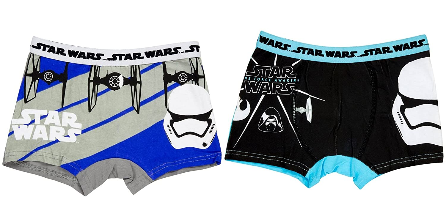 Boys Star Wars Boxers Size 6 7 8 9 10 11 12 Years Super Hero Briefs Pants Official Character