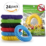 KEKH 24 Pack Mosquito Repellent Bracelet - 350Hrs Travel Pest Control Insect Bug Repeller - Natural Indoor/Outdoor Waterproof Pest Control Mosquito Bracelets - 100% Non Toxic Adults, Kids