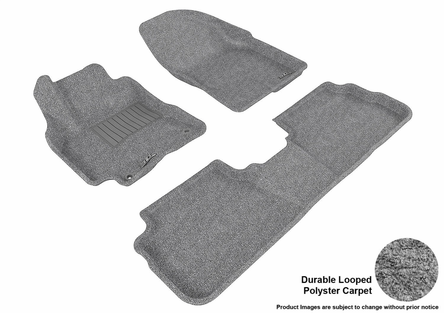 Black Nylon Carpet Coverking Custom Fit Front Floor Mats for Select Rolls-Royce Silver Cloud Models