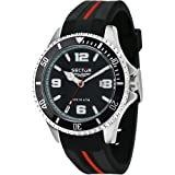 Sector Watch 43 mm Black R3251161035 Time Only 230 Marine