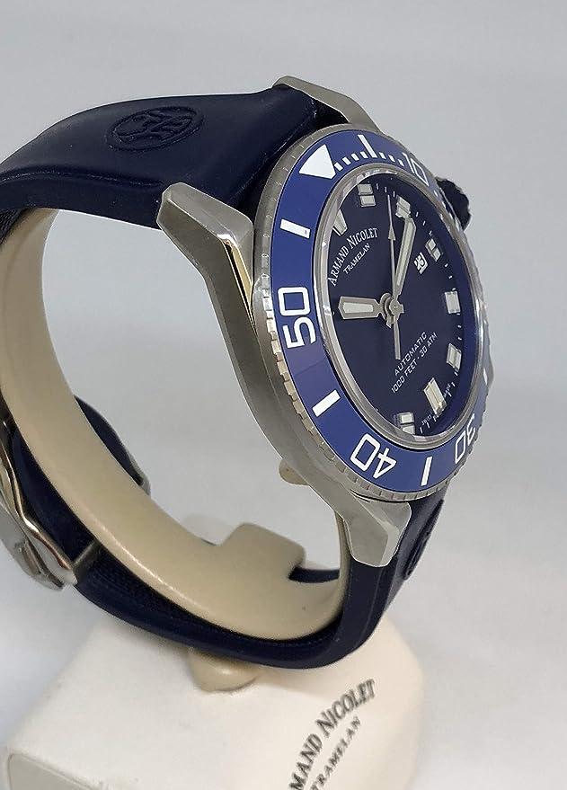 Armand Nicolet A480AGU-BU-GG4710U JS9 - Reloj de Pulsera para Hombre (Fecha analógica, automático): Amazon.es: Relojes