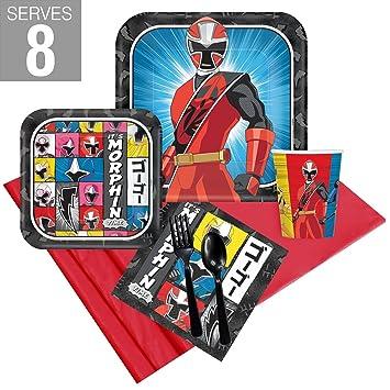 Amazon.com: BirthdayExpress Power Rangers Ninja Steel Party ...