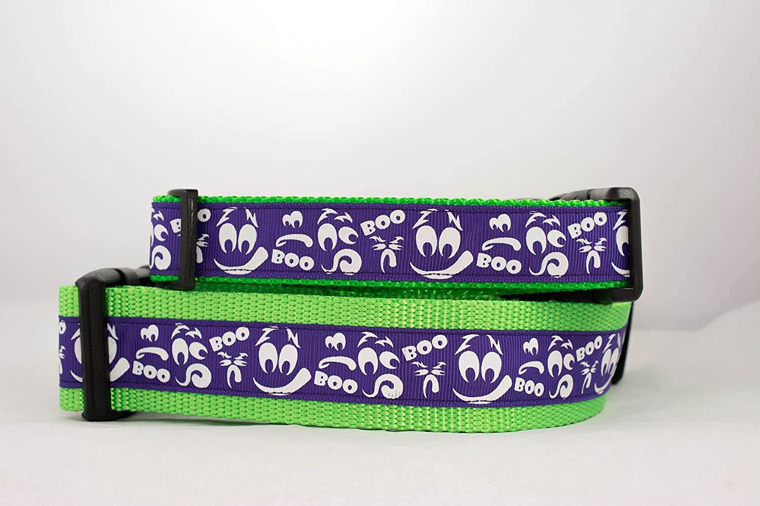 Purple Glow in the Dark Halloween Ghost Dog Collar 1