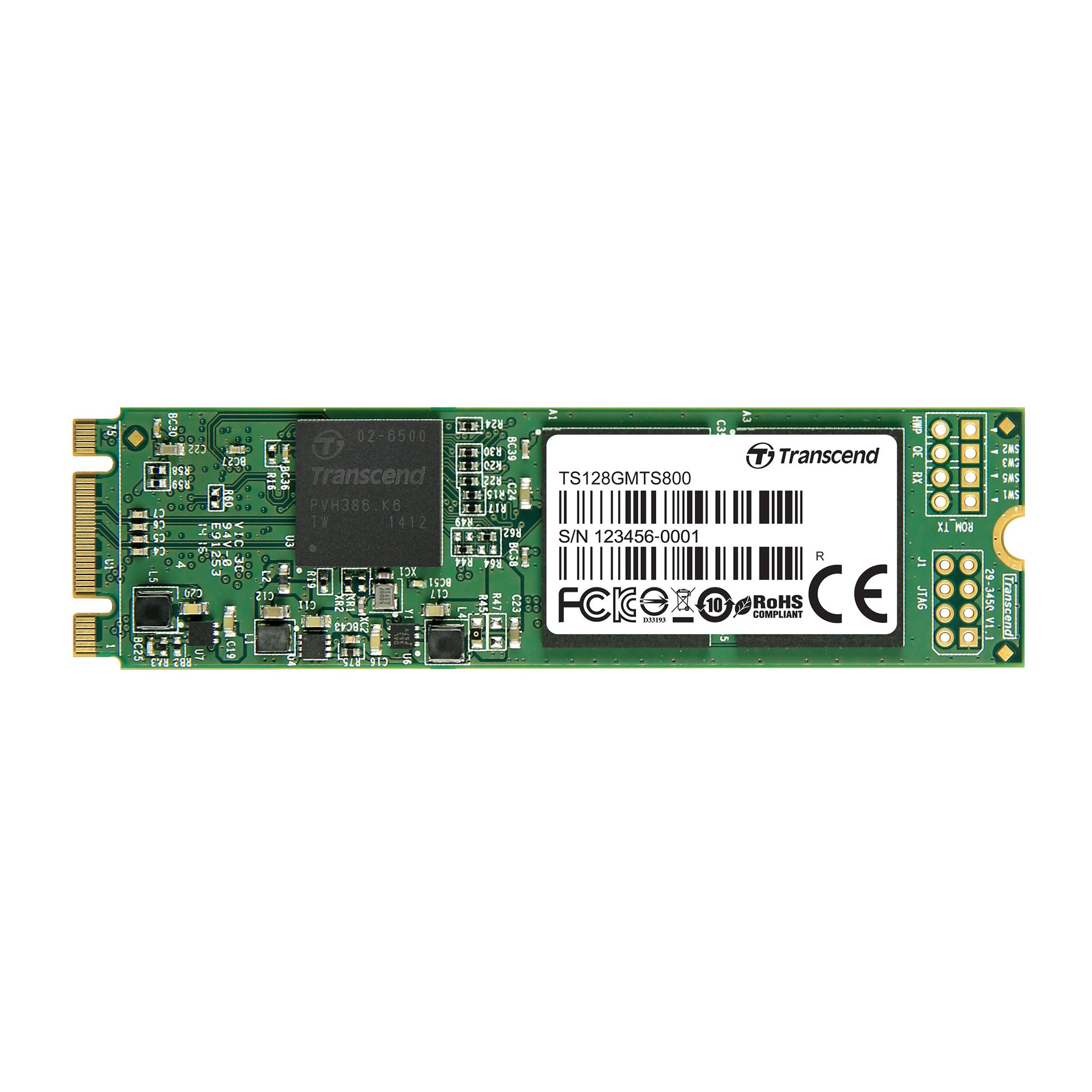 Transcend 128GB SATA III 6Gb/s MTS800 80 mm M.2 Solid State Drive (TS128GMTS800) by Transcend
