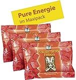 BADERs Guarana Fitbon. Das Geheimnis der Inka für frische Energie. Immer dann, wenn's drauf ankommt. Mit Guarana und Koffein plus Traubenzucker. Vorteilspackung 3 x 75g. Pharmazentralnummer: 03079109