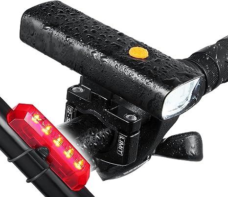 LED bicicleta luz portátil de Batería – 800 lúmenes batería de ...