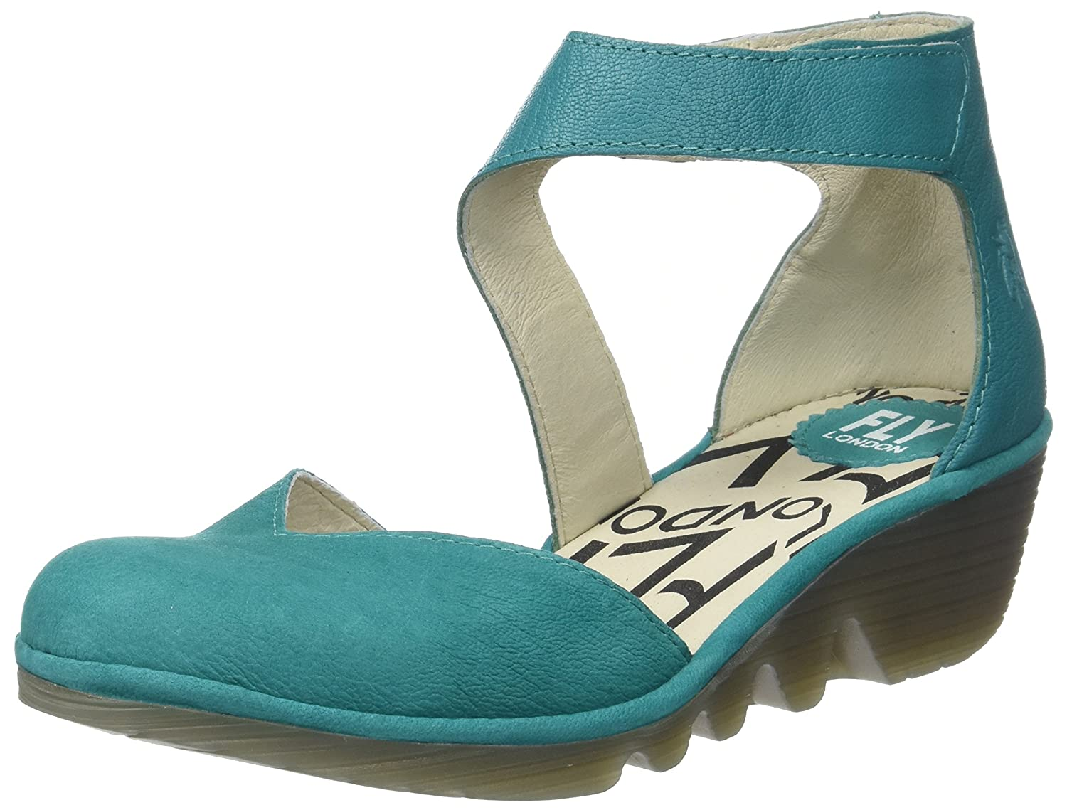 Fly London Pats801fly, Zapatos con Tacon y Correa de Tobillo para Mujer