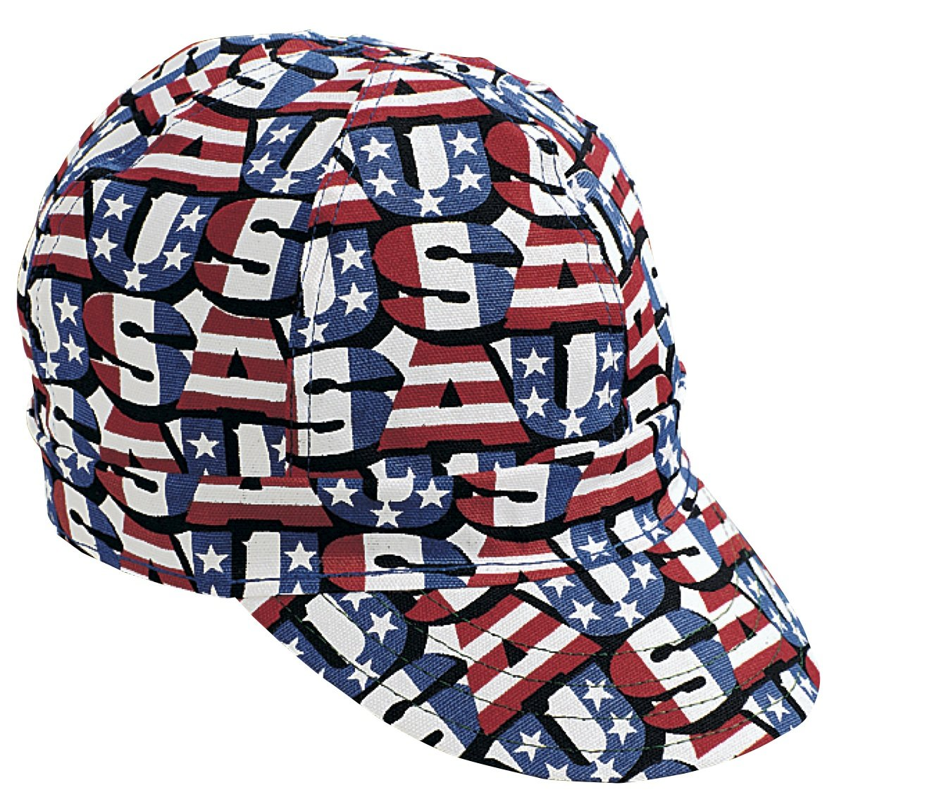 Mutual Industries 00210-00000-7125 Kromer Red White Blue USA Style Welder Cap, Cotton, Length 5'', Width 6'' by Mutual Industries
