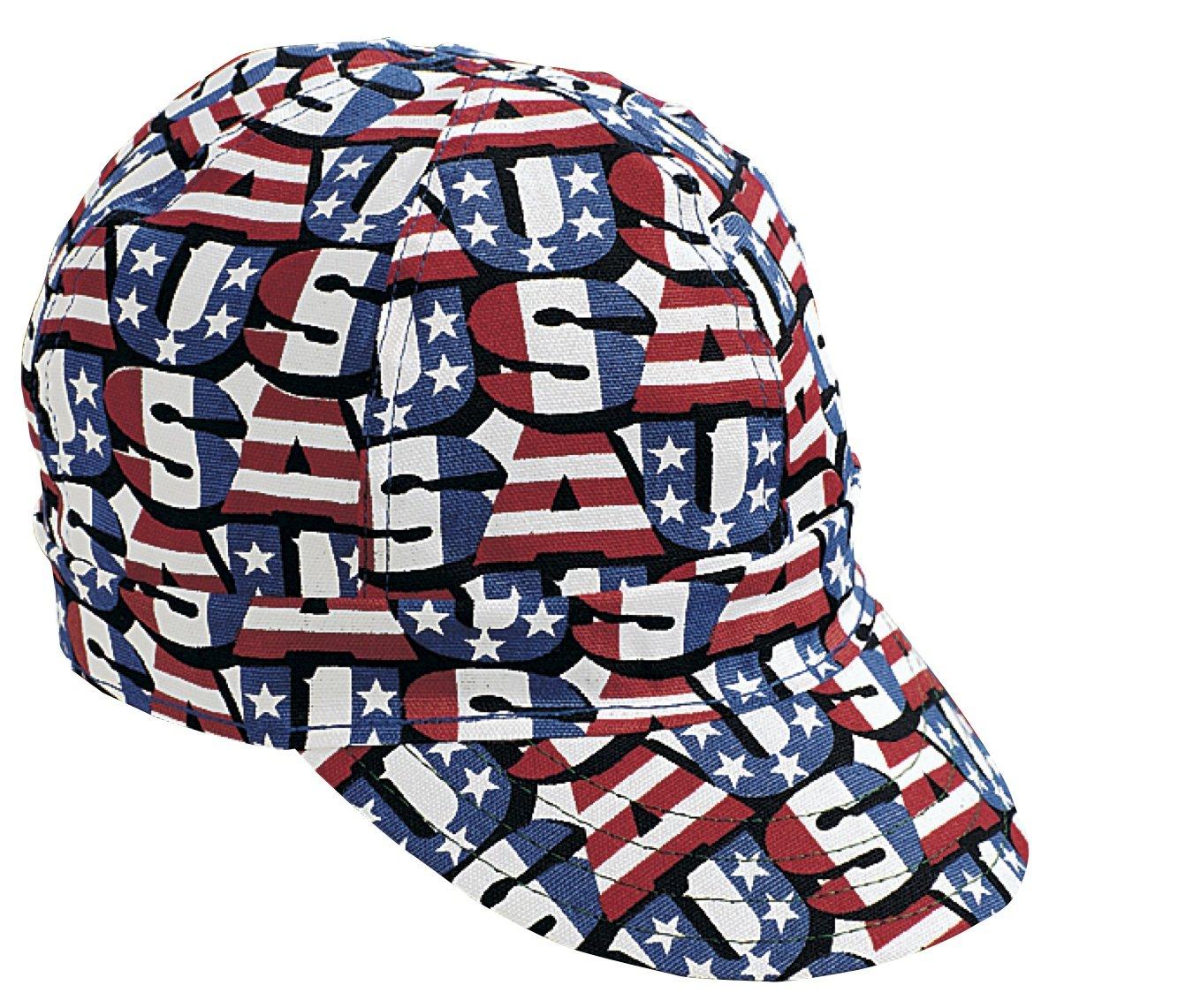 Kromer Red White Blue USA Style Welder Cap