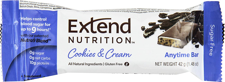Extend Bar, Cookies & Cream, 1.48 oz. Bars (Pack of 15)