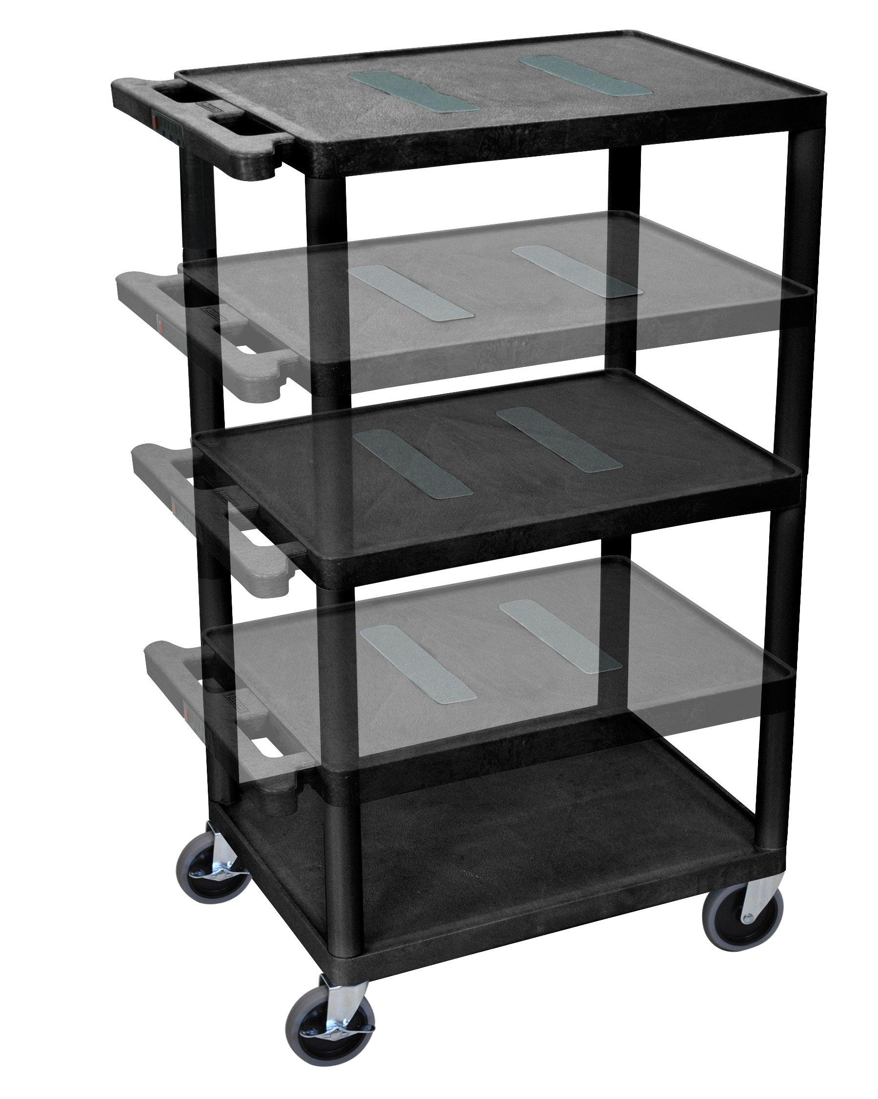 LUXOR LEDUO-B Multi-Height Endura Table, Black