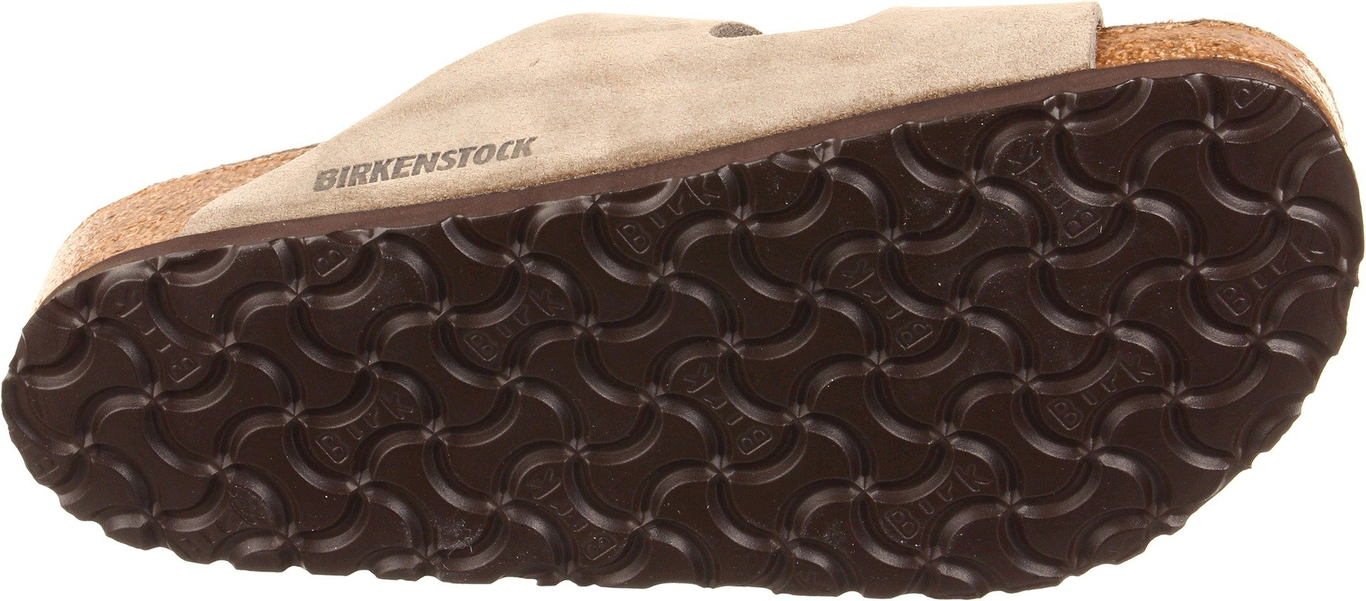 Birkenstock Unisex Arizona Taupe Suede Soft Foot Bed Sandals - 38 M EU / 7-7.5 B(M) US by Birkenstock (Image #3)