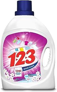 123 1-2-3 Suavizante Y Jazmín Detergente Líquido (4.65l), Pack of 1