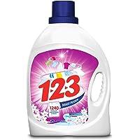 123 Maxi Poder con Suavizante y Jazmín, 4.65 litros, Blanco