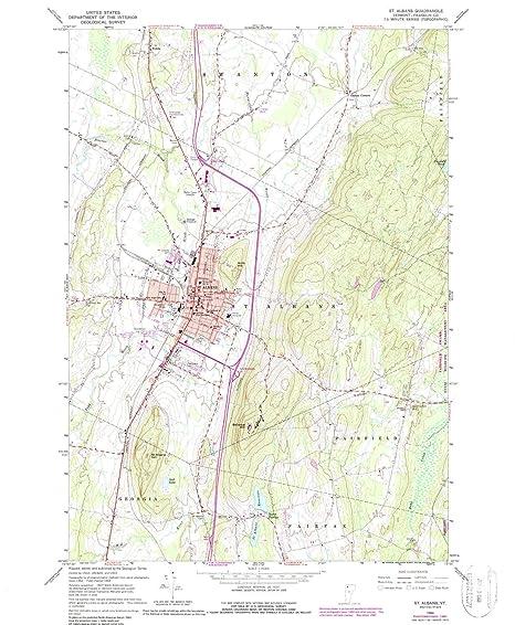 Amazon.com : YellowMaps St Albans VT topo map, 1:24000 Scale, 7.5 X ...