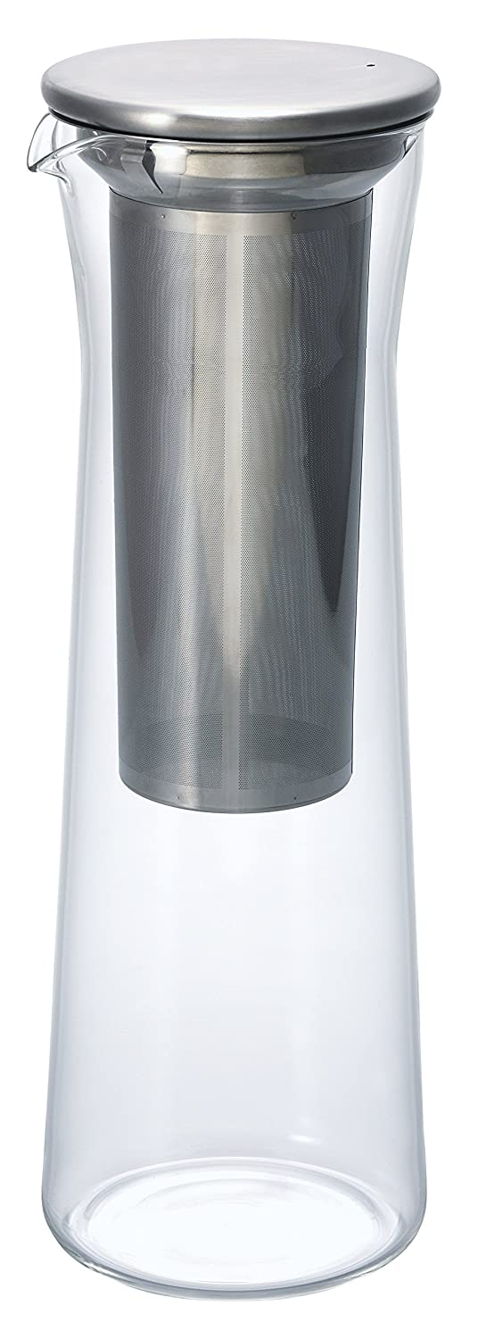 HARIO CBS-10HSV Cold Brew Coffee Jug (8 cups,1000ml), One size, Transparent