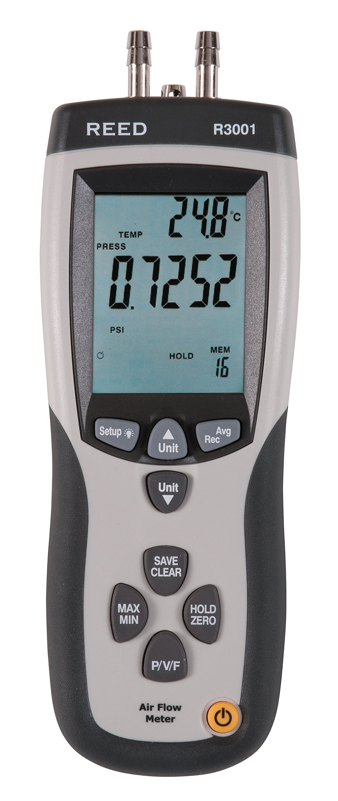 REED Instruments R3001 Pitot Tube Anemometer and Differential Manometer, with Air Volume (CFM/CMM) by REED Instruments