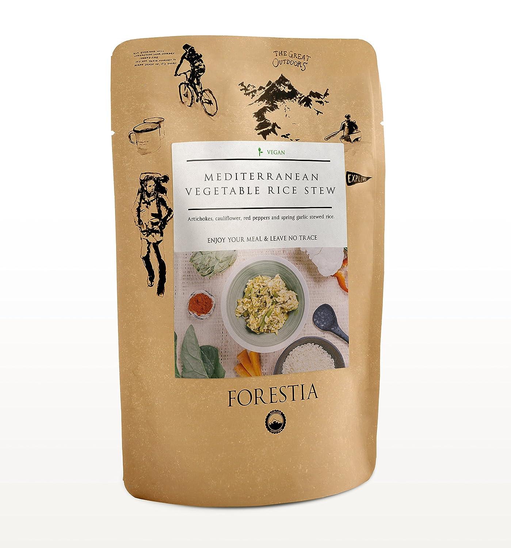 Forestia, Plato de verdura envasado (Guiso mediterráneo de arroz y verduras) - 4 de 350 gr. (Total 1400 gr.)