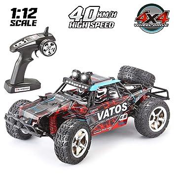 VATOS Coche RC, Vehículo Todoterreno de Alta Velocidad 4WD 40 km/h 1: