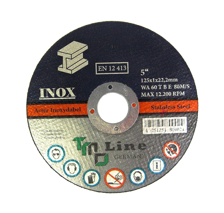 50x Metall Trennscheibe 125 mm 5 INOX Winkelschleifer Flexscheibe VA Stahl